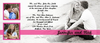 Picture wedding invitation #beach #photo #invites