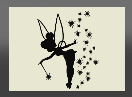 Tinkerbell Fairy Mylar Stencil A4 297x210mm Wall Art, Furniture Stencil, Fabric Stencil