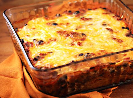 Chicken tortilla casserole, on The Perfect Pantry.
