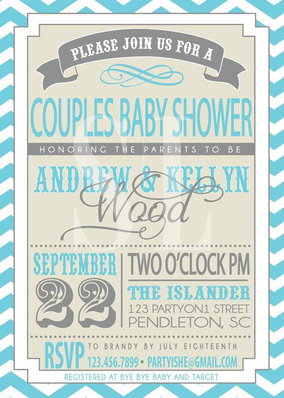 COUPLES BABY SHOWER invitation by SLDESIGNTEAM on Etsy, $18.00