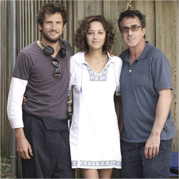 """Guillaume Canet, Marion Cotillard et François Cluzet sur le tournage de """"Les Petits mouchoirs"""""""