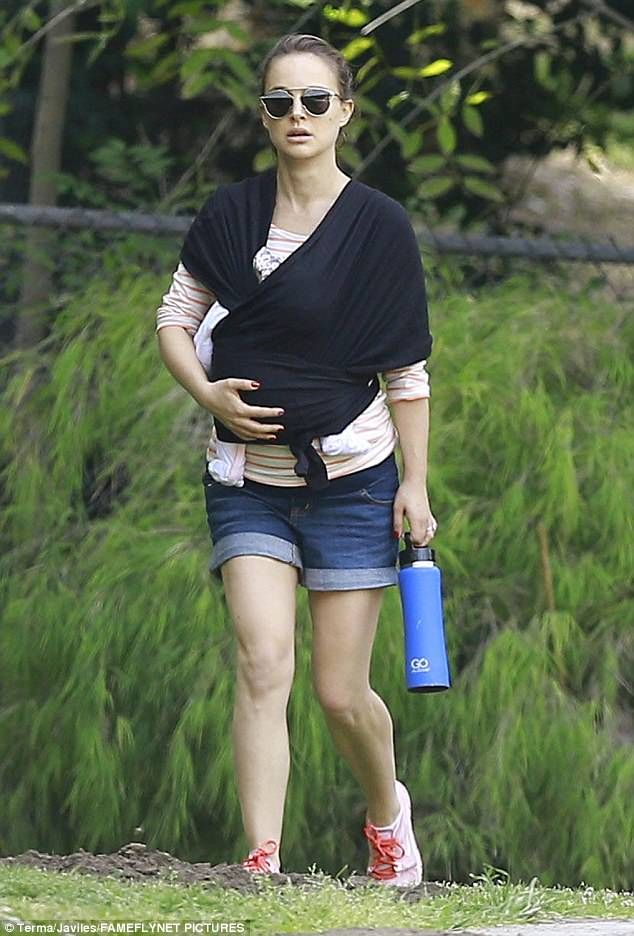 Baby's first hike:Natalie Portman stepped out in public with baby Amalia for the first ti...