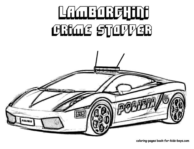 police car coloring pages - Police Coloring Pages
