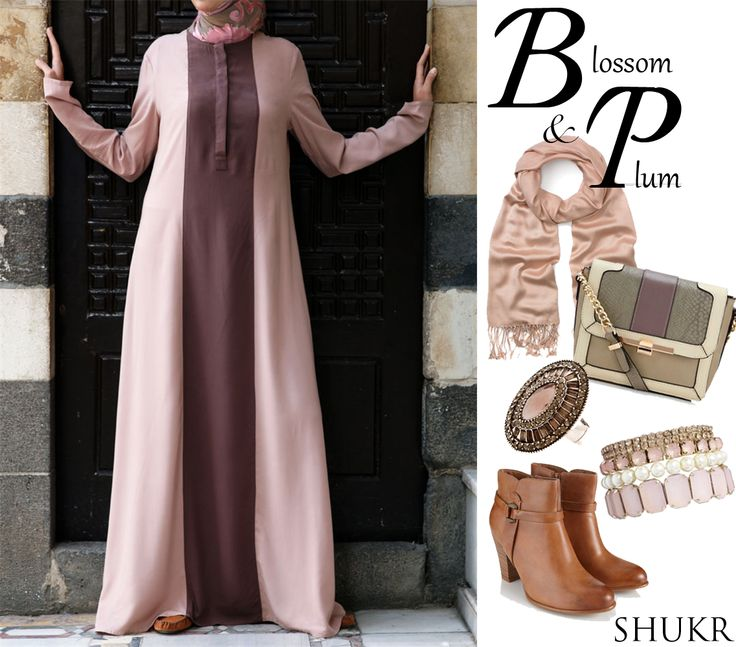 SHUKR's beautifully modest Marisa Dress in Blossom and Pink - £54.95 #shukrclothing #islamicclothing