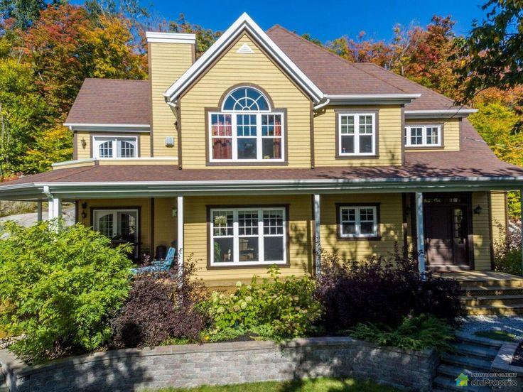 Maison spacieuse, grand terrain intime, vue panoramique, orientation SUD, accès au lac Sainte-Marie et quartier...