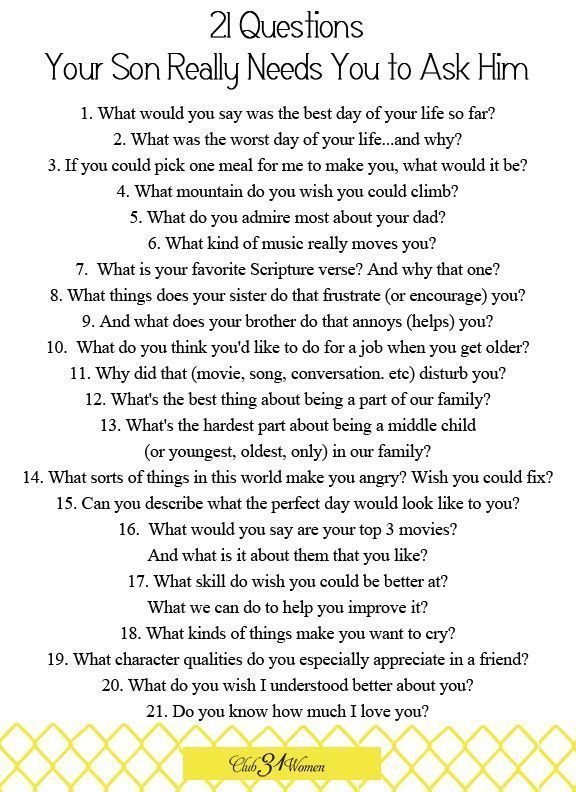 21 questions to ask a guy before dating