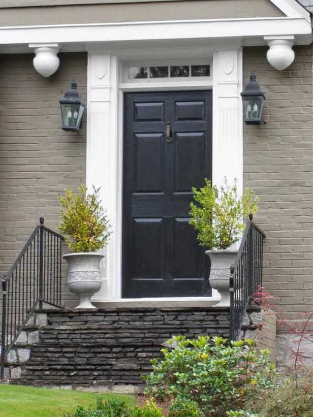 Black Front Door Curb Appeal Steal The Look Decorating
