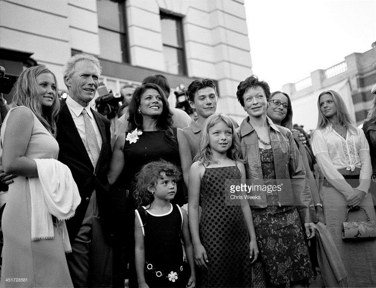 Clint Eastwood with his wife Dina Ruiz, Clint's...