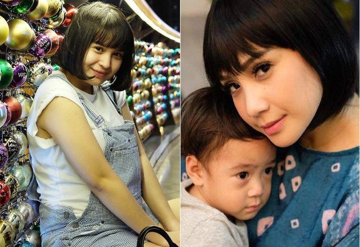 Mirip Banget! Rambut Bob Nagita Slavina dan Putri Titian