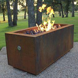 Rectangular Steel Outdoor Fire Pits - HomeInfatuation.com.