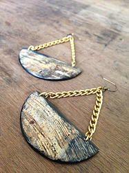 Balance Earrings - SALE $22 - Horn & Bone Collection - All natural materials. Handmade in Haiti. Support job creation in Haiti! Shop @ elishac.com