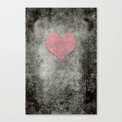 Valentines Grunge Love in Opal Pink Stretched Canvas by Bruce Stanfield - $85.00