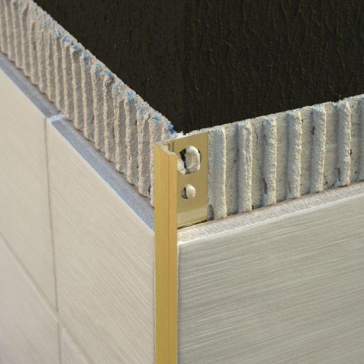 Image result for brass tile trim