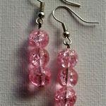 Pink Love Beaded Earrings