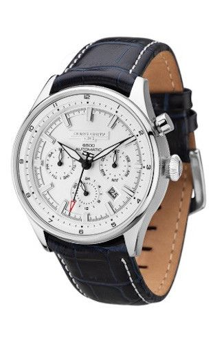 Jorg Gray JG6500-82 Limited Edition Men's Automatic Watch Blue Leather Strap Silver Dial