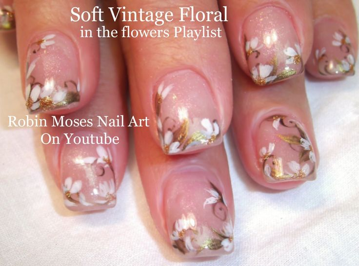 Soft Floral up for Monday! #nail #art #prom #flowers #floral - 327 Best FLOWERS Nail Art Pictures With Tutorials Images On