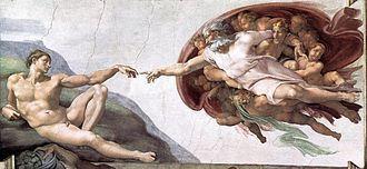 Michelangelo Buonarroti - Creazione di Adamo