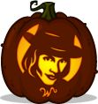 Willy Wonka pumpkin pattern - Charlie and the Chocolate Factory - Pumpkin Carving Patterns and Stencils - Zombie Pumpkins!