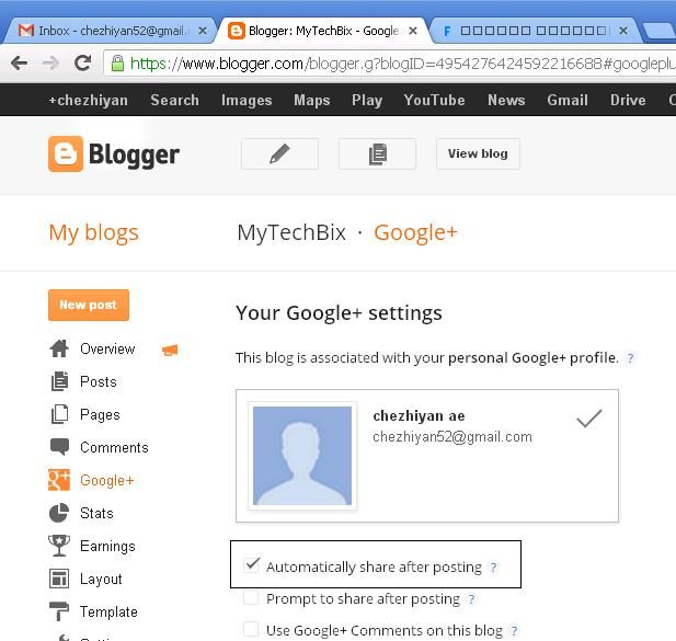How to share our post on google+ automatically? ~ MyTechBix