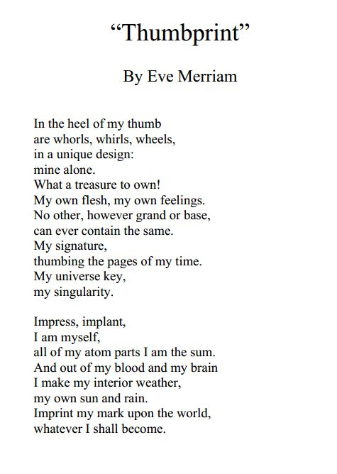 eve merriam Eve merriam mingled poetry for children with devastating social criticism for adults, like her inner city mother goose, which became one of the most banned books of all time.