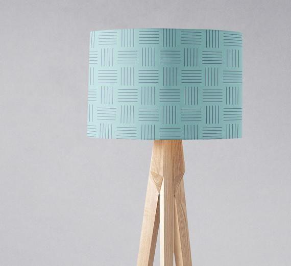 Lampshade Blue Nursery Light Shade