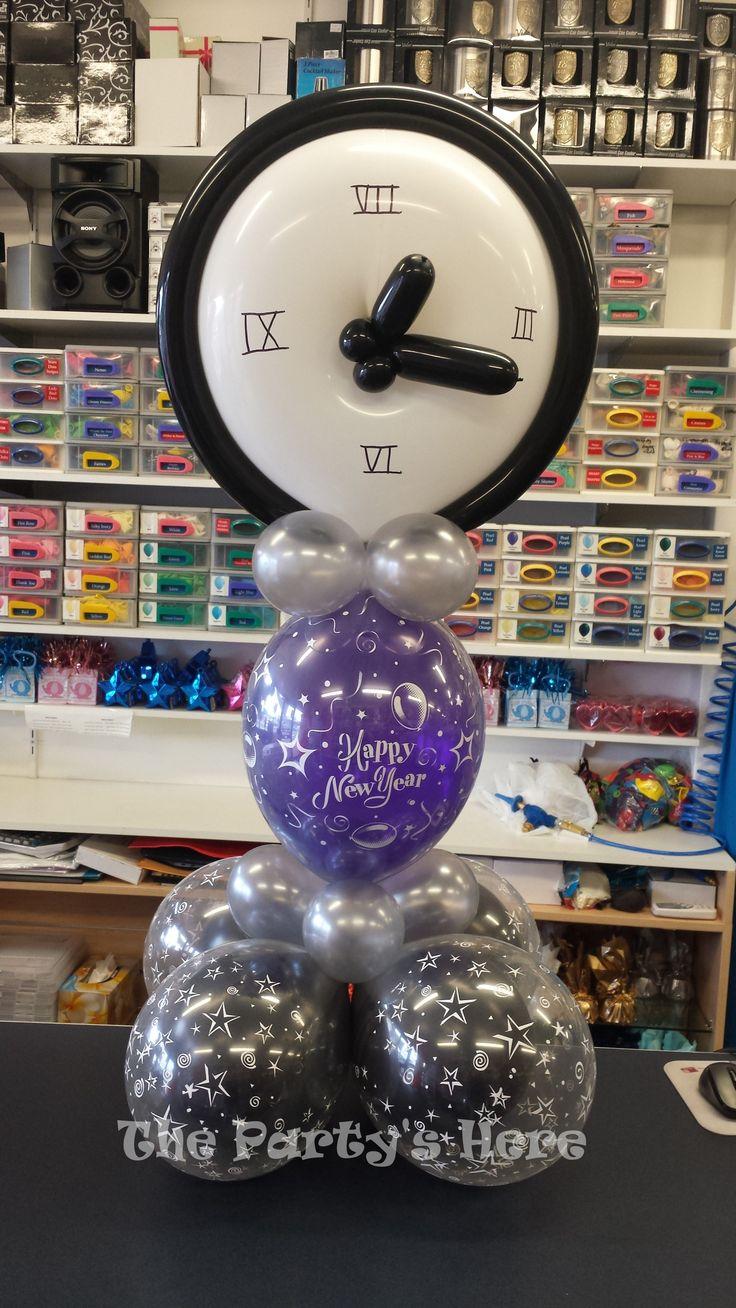 New Year's Eve Clock Centerpiece Balloon arrangements