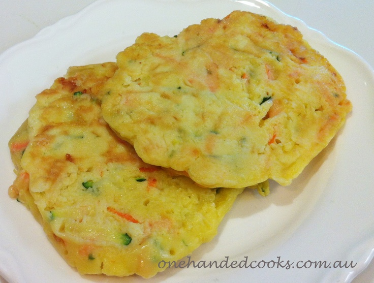 one handed cooks: baby & toddler finger food: pick-n-mix fritters