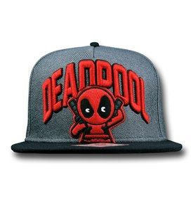 Deadpool Kawaii Flatbill Snapback Cap - Front View