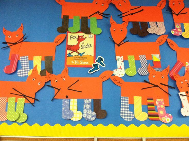 Fox In Socks Craft Preschool