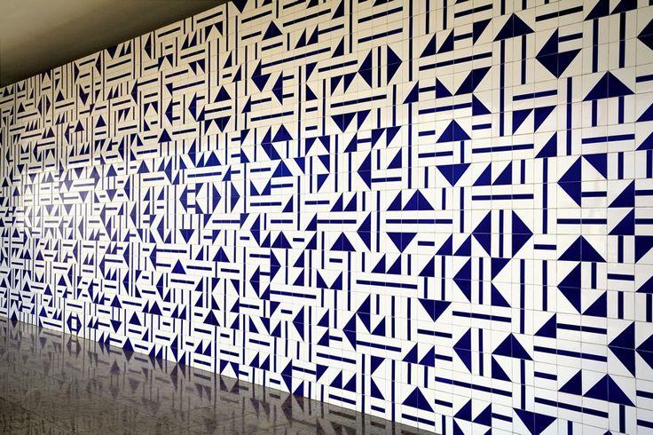 Oscar Niemeyer, Painel de azulejos, Museu de Gemas, Torre de TV, 1966. Foto: Edgar César Filho