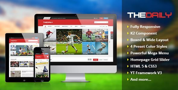 ThemeForest - TheDaily-Responsive News Portal Joomla Template Free Download