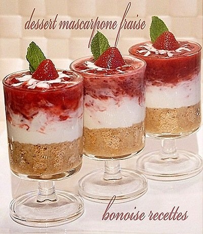 Dessert mascarpone fraise