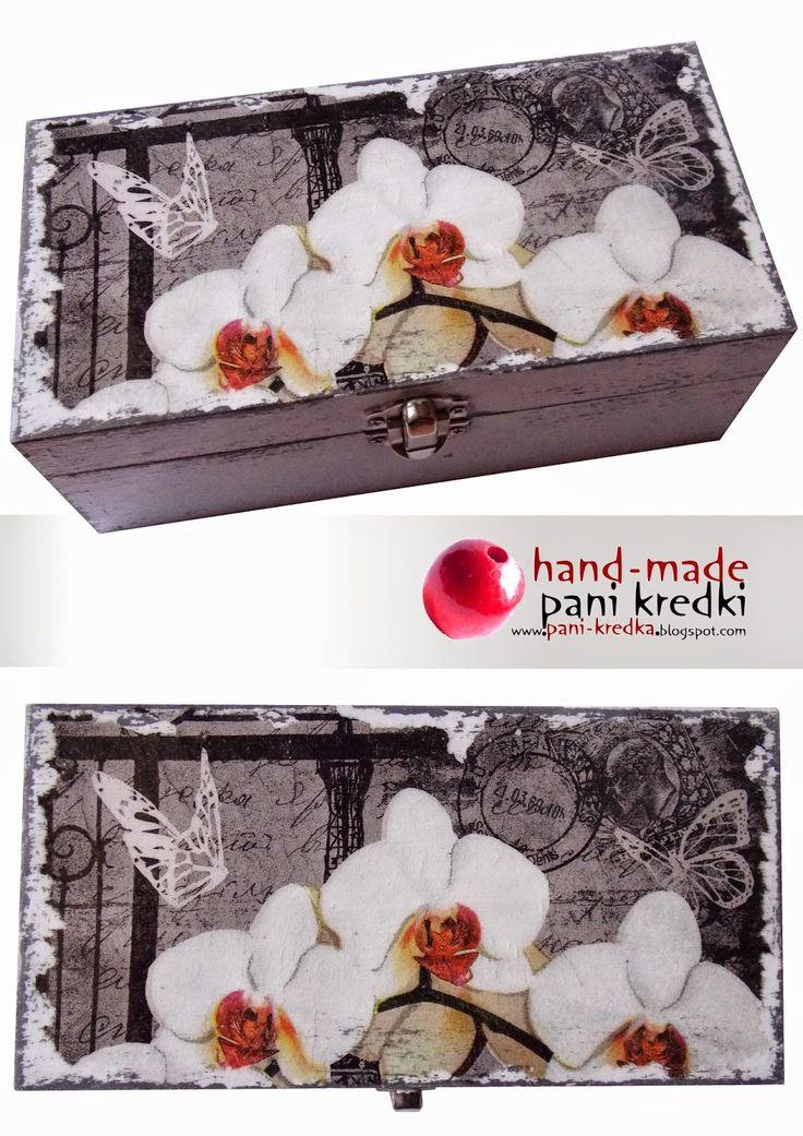 hand-made pani kredki: Paryż - szkatułka