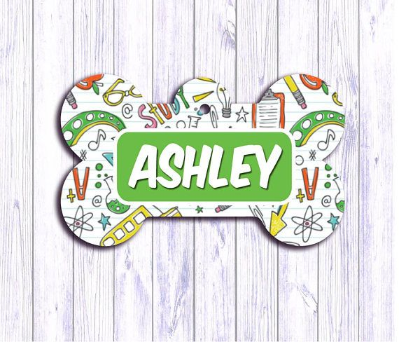 Back to School Personalized Dog Tag Cat ID Tag Dog Name Tag