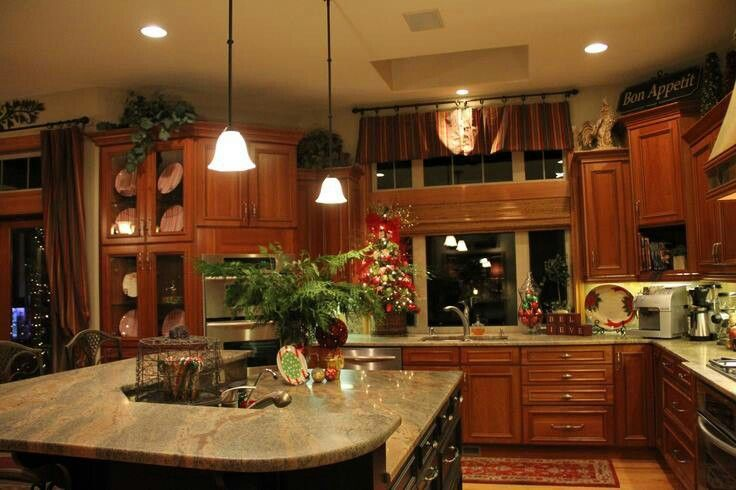 Nice big kitchen grand kitchens pinterest shape kitchens and nice - Home plans with large kitchens ...