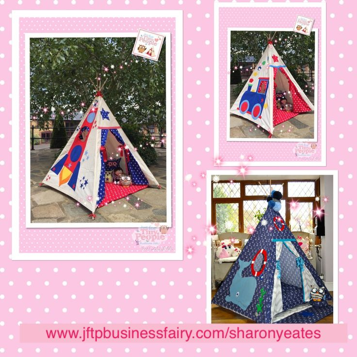 All aboard this super fun, super cosy teepee! Embroidered with a colourful train on the outside, and patterned with a dizzying number of stars inside, your tiny people will love this indoor and outdoor secret den and how it tickles their imagination.   All of the Just For Tiny People teepees are hand made by our sewing fairies from quality, machine washable fabric.  EVERYTHING YOU NEED TO KNOW: - A children's magical teepee is approximately 145cm tall and 120cm square at the base