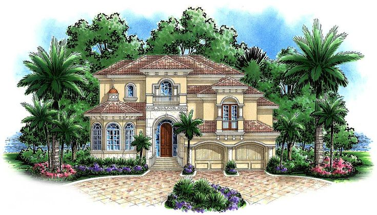 <ul><li>A stately elevation for this tropical paradise features an octagonal study with small cupola crowned with a spire. Upon entering the grand foyer, this home plan begins to express its wide open feel with a large formal dining room opening to both the foyer and impressive great room. </li><li>Opposite, the dinette and large kitchen, with walk-in pantry and large center island, add to the expanse of the main living area with natural light flowing in from all adjoining spaces…
