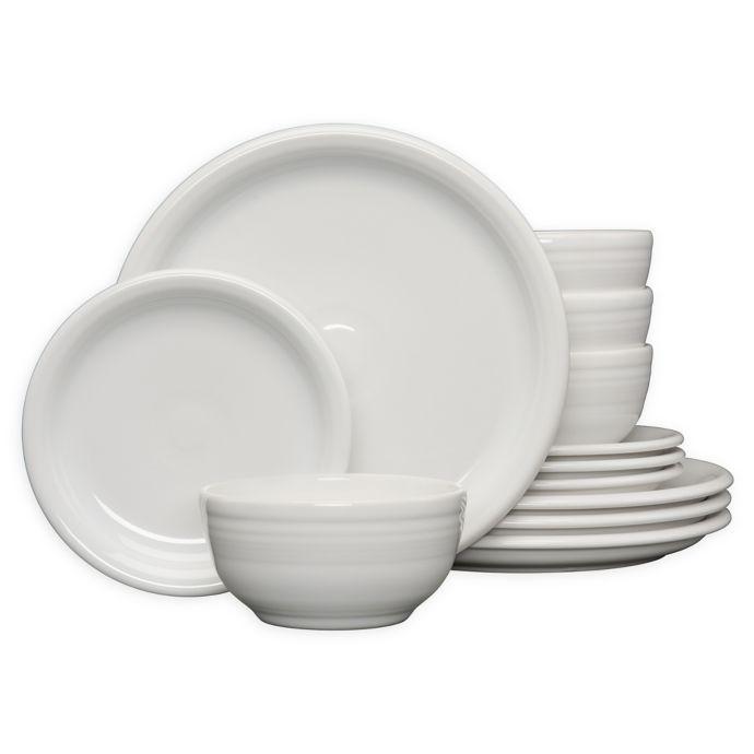 Fiesta 12 Piece Bistro Dinnerware Set Bed Bath Beyond Fiesta Dinnerware Dinnerware Set Rustic Dinnerware White dinnerware sets for 12