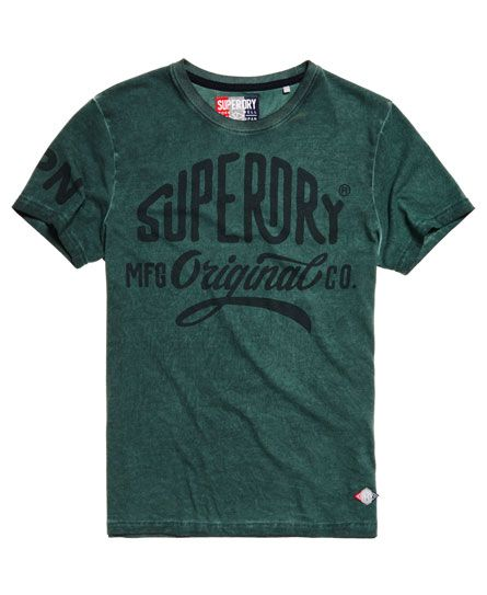 Superdry Work Wear Over Dyed T-shirt Green