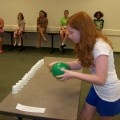 Minute to win it for Kids.  This was done at cub scout day camp and it was a HIT!!!!