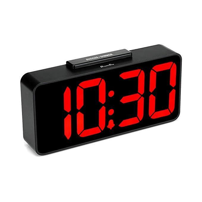 Projection Ceiling Wall Clock Double Alarm Clock LED USB Port Bedroom Desk Decor