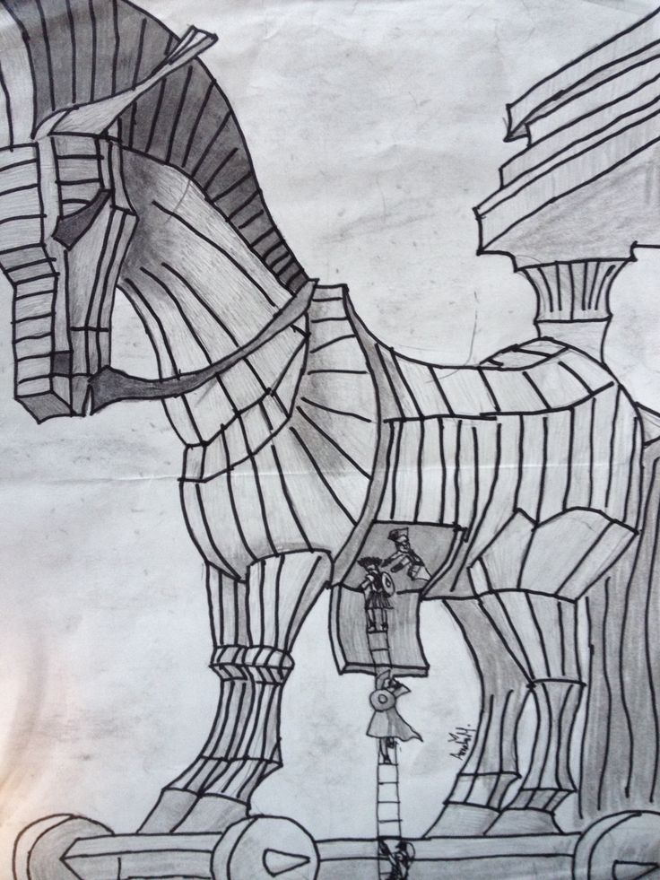 free trojan horse coloring pages - photo#14
