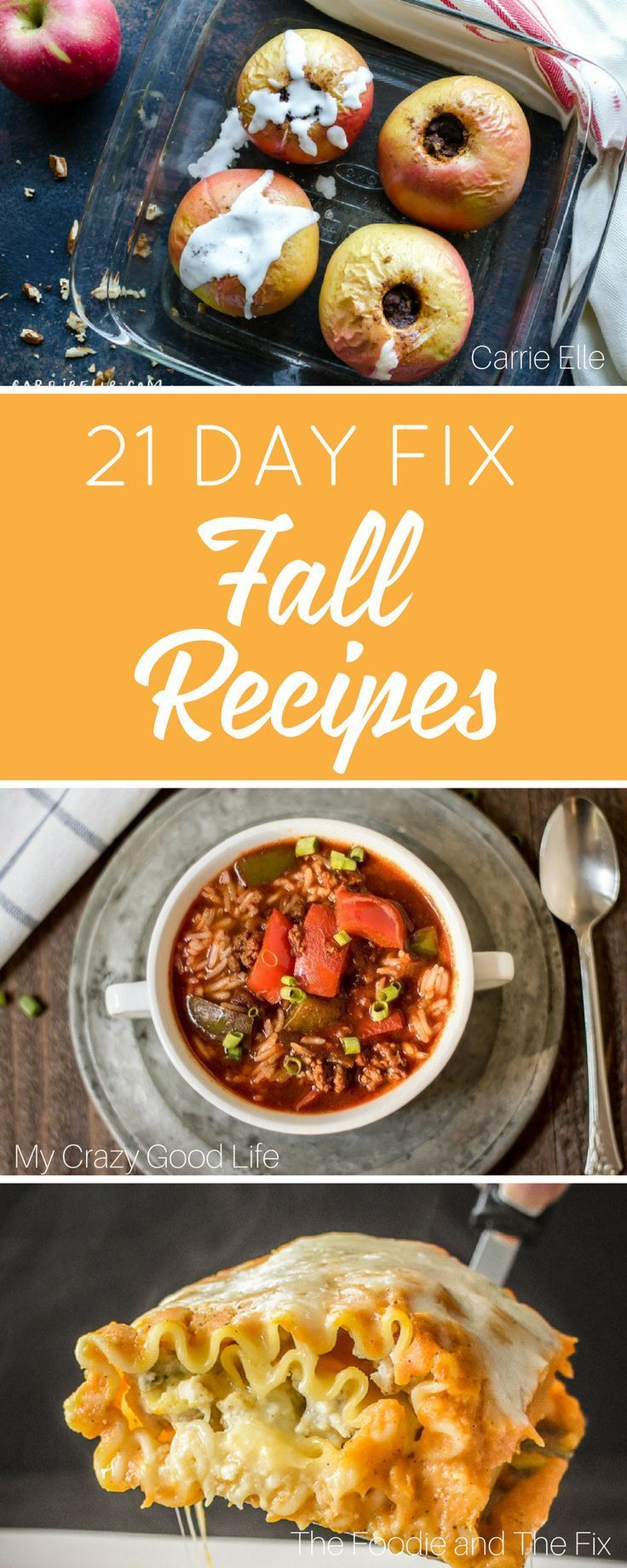 Looking for some 21 Day Fix Fall Recipes? Here are fall desserts, fall dinners, and fall drinks–all 21 Day Fix approved! 21 Day Fix Pumpkin | 21 Day Fix Apple Recipes | 21 Day Fix Zucchini Recipes | All recipes have container counts!