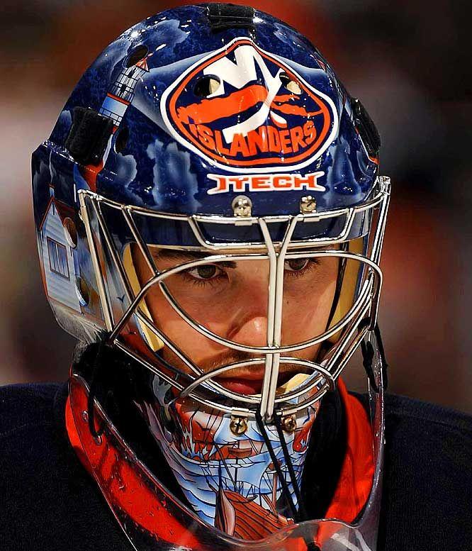 NHL Goalie Masks By Team   ... York Islanders - NHL Goalie Masks by Team ('08-'09) - Photos - SI.com