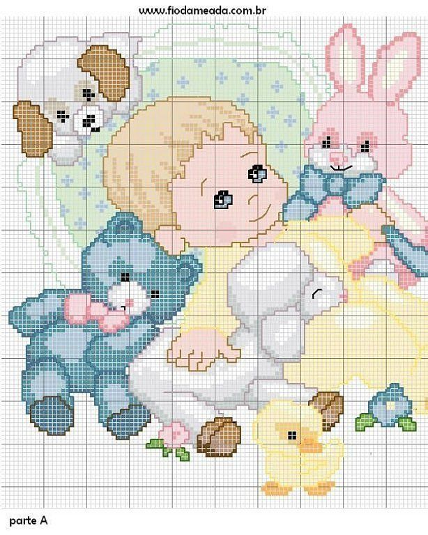 baby with stuffed animals 1-2