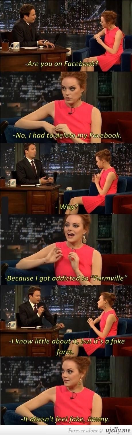 Why Emma Stone deleted her Facebook.