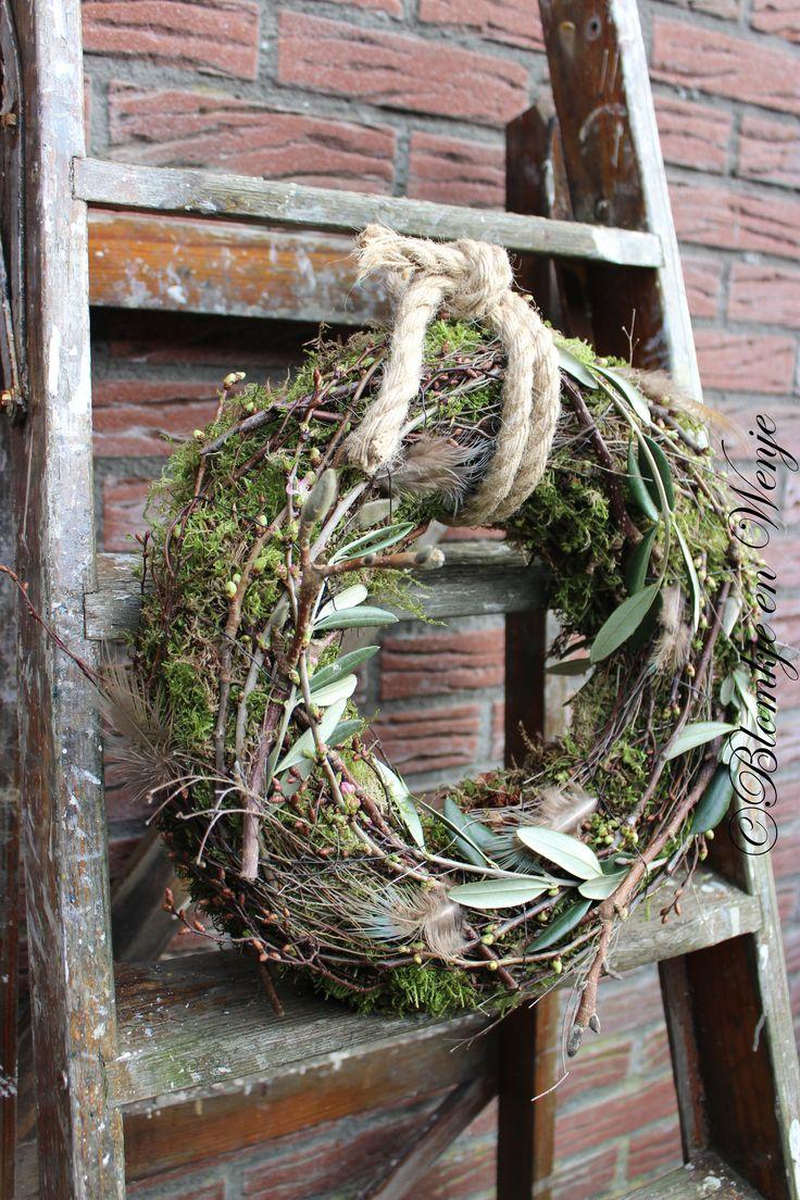 wreath krans corona spring voorjaar stoer sober landelijk