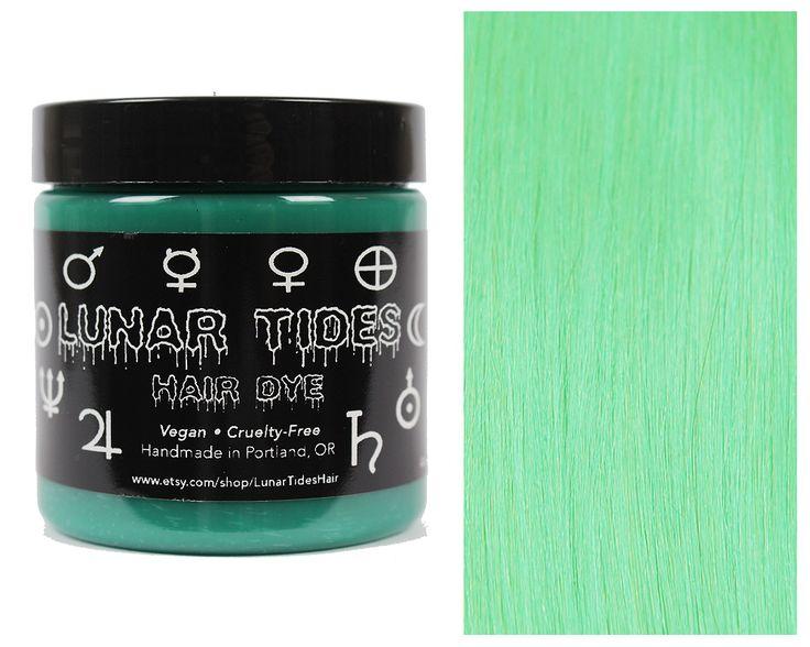 Mint Green Hair Dye https://www.etsy.com/listing/150651258/pastel-mint-green-hair-dye Lunar Tides