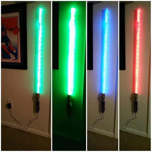Diy Lightsaber Wall Lamp Diy Lightsaber Star Wars Lamp Lamp