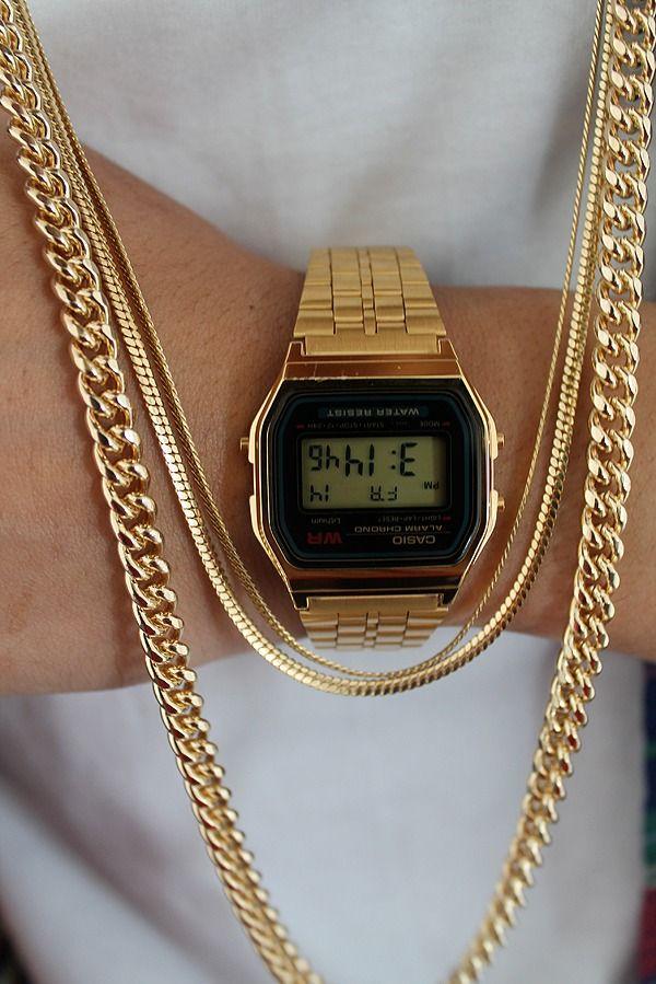 10 best images about casio watch men indigo gold casio watch golden chains